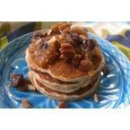 Whole Wheat Ricotta Pancakes with Fall Fruit Compote