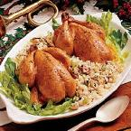Cornish Hens with Rice Dressing