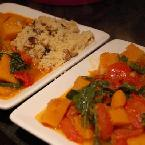 Butternut squash curry with squash seed couscous