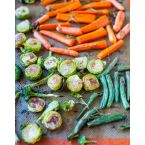 Lemon Rosemary Coconut Oil Roasted Veggies