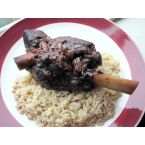 Merlot-Pomegranate Braised Lamb Shanks