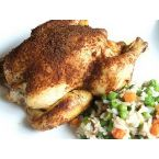 Moroccan Spice-Rubbed Cornish Hens