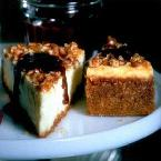 Praline Cheesecake w/Hot Fudge Caramel Sauce