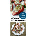 Blue Cheese & Walnut Stuffed Strawberries