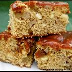 White Choc & Walnut Blondies w/ Salted Caramel Sauce