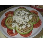 Tomato, zucchini and feta salad
