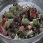Alfresco Salad (Kidney Beans and Veggie Salad)