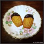 Sweet Potato Madeleines with Chocolate-Orange Ganache