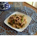 Millet with Asparagus and Mushrooms