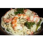 Sandra's Pasta with Shrimp and Broccoli Rabe Infused with Lemon Grass