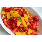 Strawberry & Orange Salad With Citrus Syrup & Fresh Mint