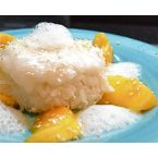Coconut Mango Sticky Rice w/ Ginger Air