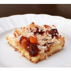Macaroon Bars with Apricots and Cherries