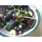 Coconut Curry Mussels with Lemongrass and Lime