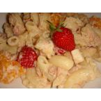 Pasta Salad with Oranges and Strawberries
