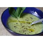 Light Lemon Basil Zucchini Soup