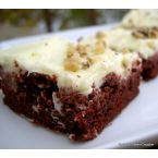 Red Velvet Brownies with Orange Cream Cheese Frosting
