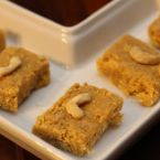 Fudge -o -mania-Chickpea flour and walnuts fidge Recipe