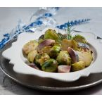Brussels sprouts, smoked mackerel and vinegar salad