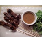 You v. Beef Skewers with Spicy Peanut Sauce