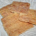 Wheat free, gluten free Cinnamon Crackers
