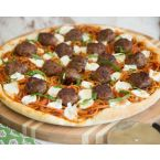 Spaghetti And Meatball Pizza