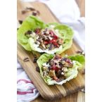 Balsamic Chicken Lettuce Wraps
