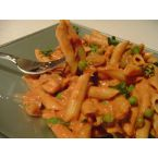 Penne with Goat Cheese Tomato Sauce