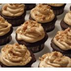 Devils Food Cupcakes with Peanut Butter Frosting