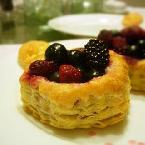 Drunken Berry Pastry Shells