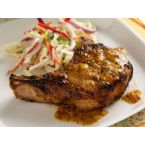 Peach-Mustard Pork Chops