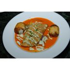Sweet Potato Redfish with Andouille Cream