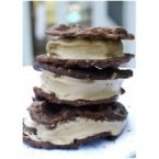 Chocolate Chocolate Chip cookie Ice Cream Sandwiches