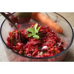 Raw Carrot Beet Ginger Salad