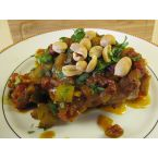 Cold Weather Recipes: Baked Curry Chicken topped with peanuts & cilantro