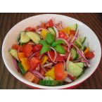 Tomato, Cucumber, Onion, Pepper (TCOP) Salad
