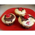 Cherry Chocolate Black Bottom Cupcakes