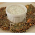 Fennel fritters with greek yogurt dip