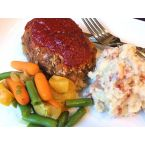 Individual Meat Loaves with Smoky Mashed Potato Bake