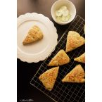 Cheese and Scallion Scones with Green Chili Butter
