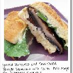 Grilled Portobello and Sun-Dried Tomato Sandwich with Garlic Herbed Mayonnaise