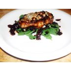 Pan Seared Chicken Topped With Blue Cheese in a Balsamic Reduction Sauce