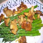 Asparagus with Fresh Chanterelle Mushrooms