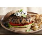 Blueberry Turkey Burgers with Lemon-Basil Mayonnaise