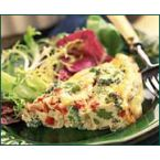Cheesy 'n Crabby Crustless Quiche