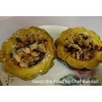 Acorn Squash with Mixed Fruit and Almonds