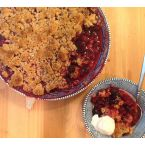 Blackberry Almond Crumble