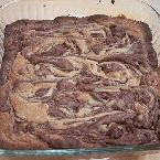 Swirly PB&C Brownies
