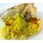 Baked chicken & rice with saffron