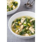 Slow Cooker Quinoa, Chicken, and Kale Soup